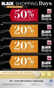 Gazetka Kik Black Shopping Days od 25.11.2019 do 30.11.2019