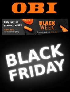 Gazetka OBI Black Friday od 25.11.2019 do 01.12.2019